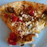 Tomato Leek Frittata with Goat Cheese