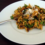Porcini Mushroom and Spinach Risotto with Mascarpone
