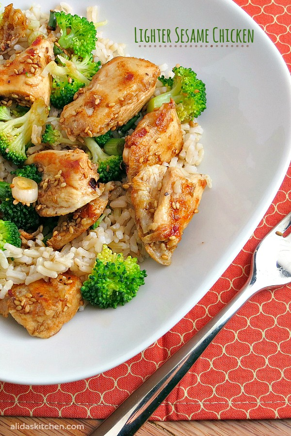 Lighter Sesame Chicken | alidaskitchen.com