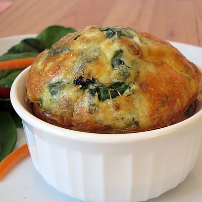 individual frittatas made in a ramekin