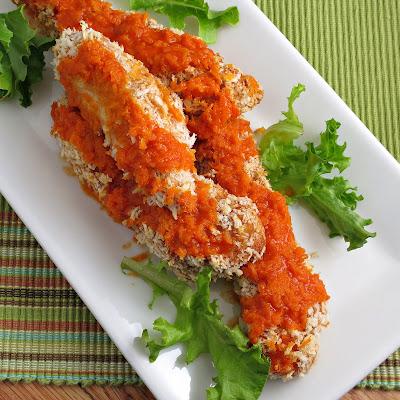 healthy baked buffalo chicken breast tenders