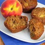 Oat Peach Muffins