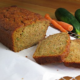 healthy carrot zucchini bread