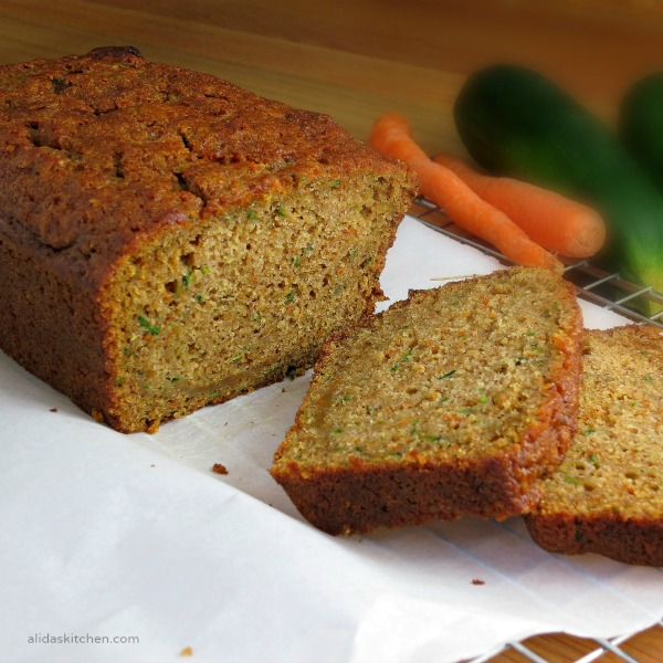 Carrot Zucchini Bread | alidaskitchen.com #recipes