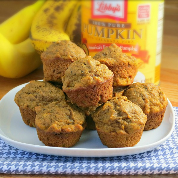 Pumpkin Banana Muffins {alidaskitchen.com}