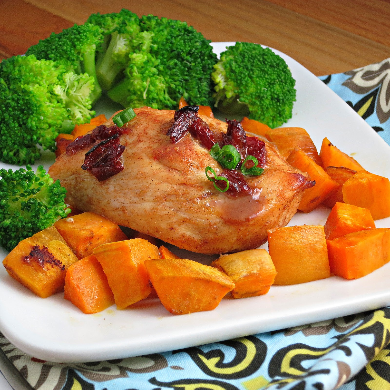 Chipotle Glazed Roast Chicken With Sweet Potatoes My Site