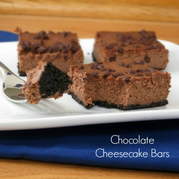 Chocolate Cheesecake Bars from Alida's Kitchen
