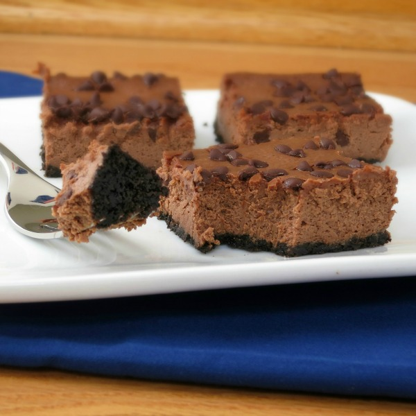 Chocolate Cheesecake Bars | alidaskitchen.com