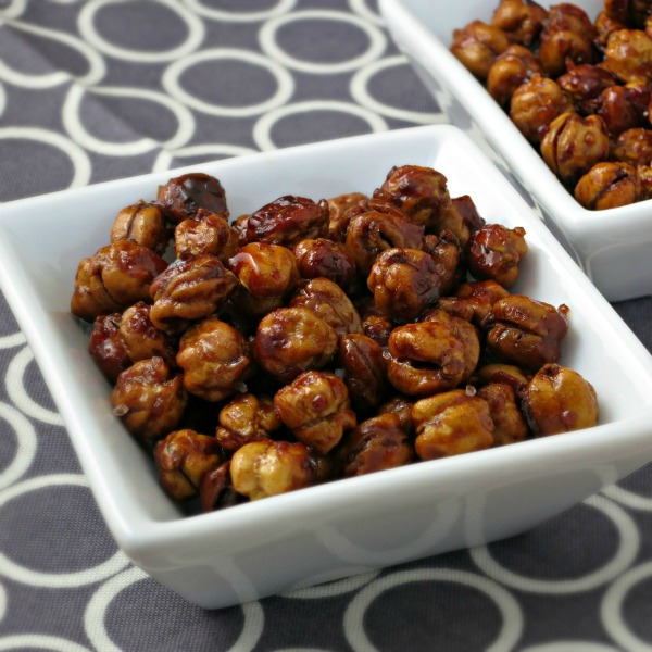 Honey Roasted Chickpeas with Sea Salt | alidaskitchen.com