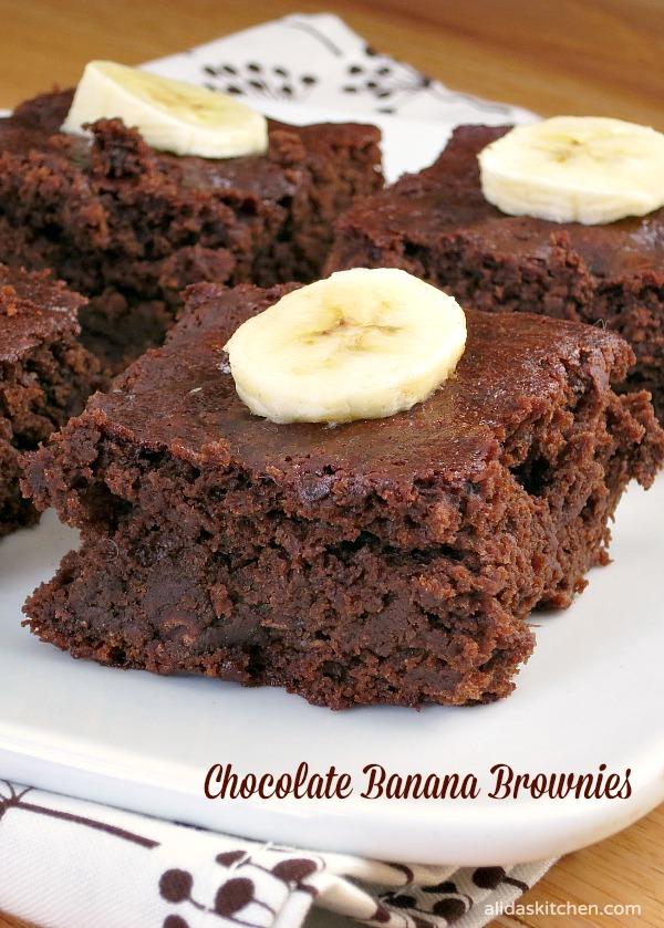 Chocolate Banana Brownies | alidaskitchen.com