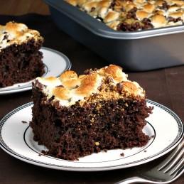 S'mores Snack Cake |alidaskitchen.com #SundaySupper