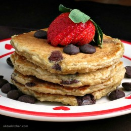 Oatmeal Chocolate Chip Pancakes   alidaskitchen.com #BakeWithGhirardelli #CleverGirls #spon