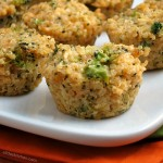 Broccoli Cheddar Quinoa Bites #WeekdaySupper