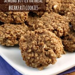 Almond Butter Oatmeal Breakfast Cookies | alidaskitchen.com #recipes #vegan #breakfast #cookies #mybloom #spon