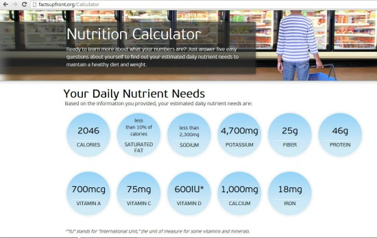 Nutrition Calculator| alidaskitchen.com #FactsUpFront