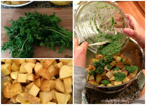 Parsley Pesto Potato Salad | alidaskitchen.com #recipes #SundaySupper
