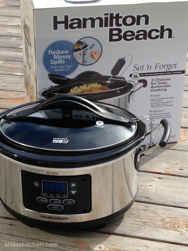Hamilton Beach slow cooker #giveaway| alidaskitchen.com
