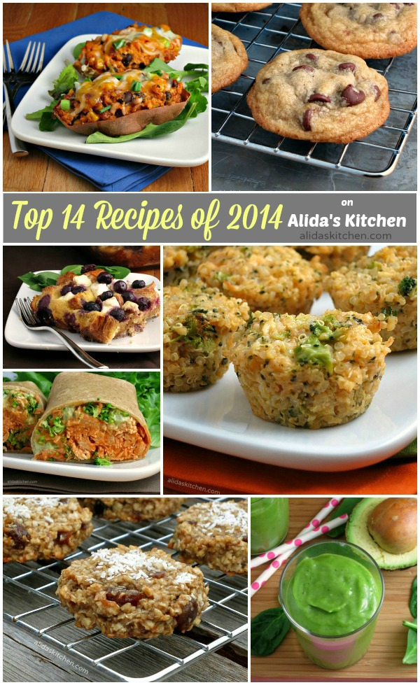 Top 14 Recipes of 2014 on Alida's Kitchen | alidaskitchen.com