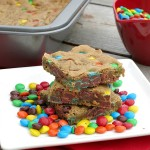 Coconut Oil M&M Cookie Bars