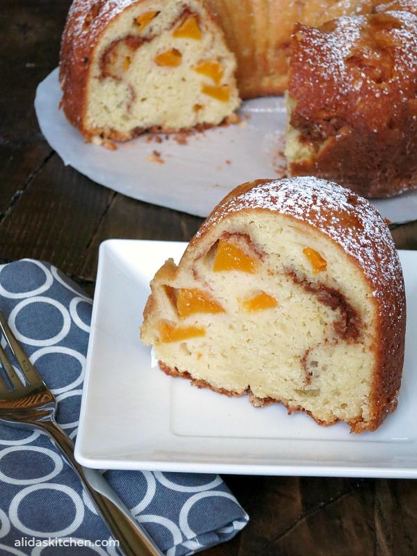 Peach Buttermilk Bundt Cake   alidaskitchen.com
