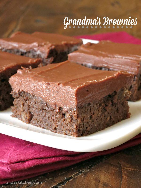 Grandma's Brownies | alidaskitchen.com