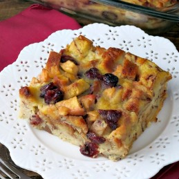 Apple Cranberry Baked French Toast | alidaskitchen.com
