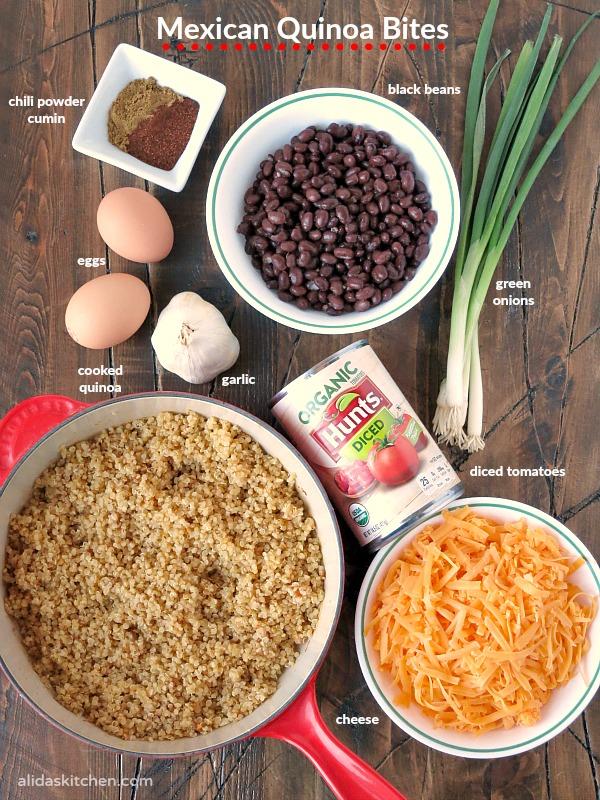 Mexican Quinoa Bites | alidaskitchen.com