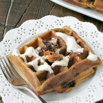 Carrot Cake Waffles #SundaySupper