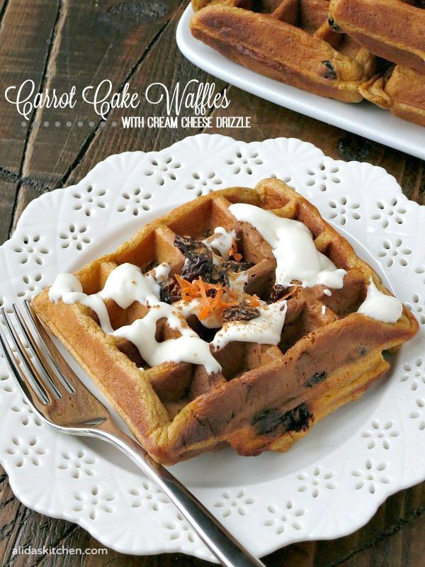 Carrot Cake Waffles | alidaskitchen.com