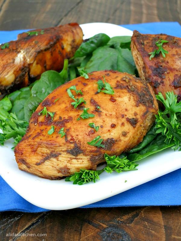 Grilled Honey Balsamic Chicken   alidaksitchen.com