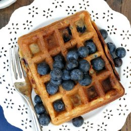 Blueberry Buttermilk Waffles | alidaskitchen.com