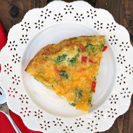 Cheesy Vegetable Frittata | alidaskitchen.com