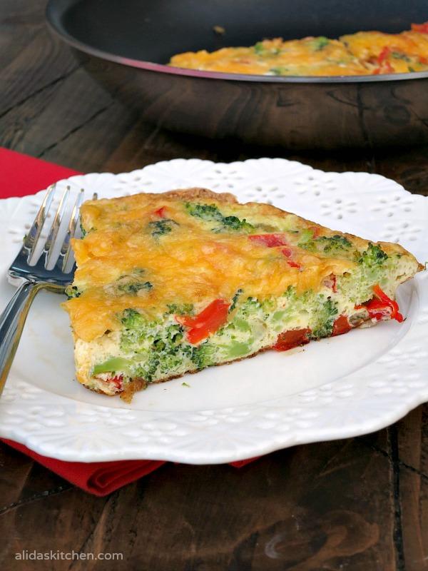 Cheesy Vegetable Frittata | alidaskitchen.com