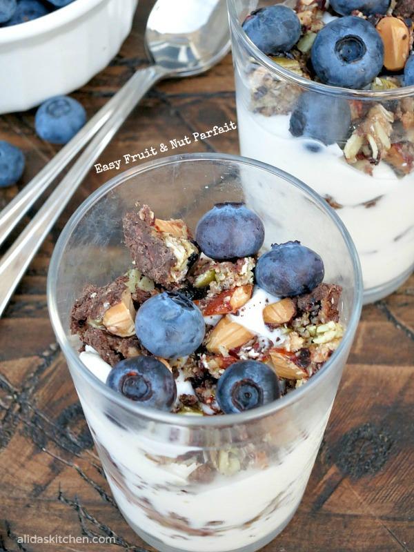 Easy Fruit & Nut Parfait | alidaskitchen.com