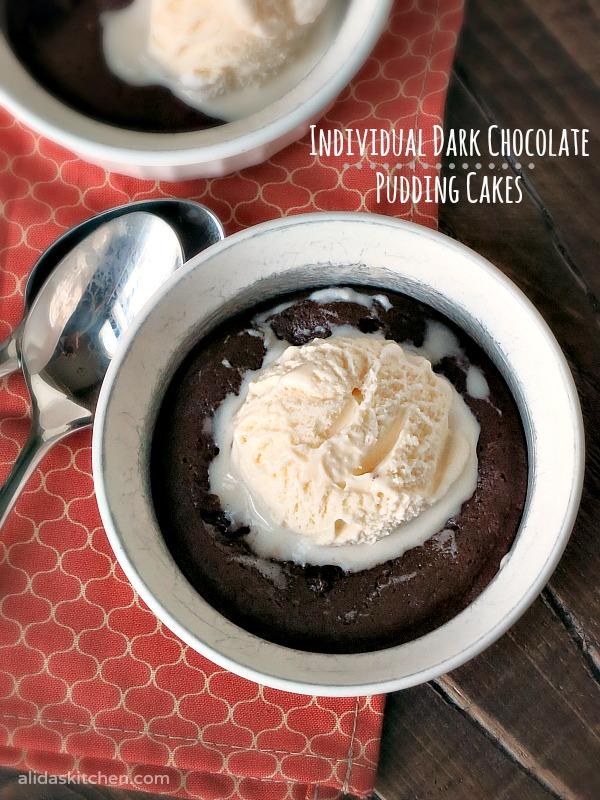 Individual Dark Chocolate Pudding Cakes | alidaskitchen.com