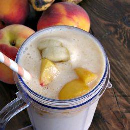 Peach Banana Smoothie   alidaskitchen.com #shop